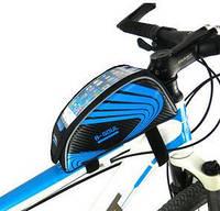 """Велосипедная сумка на раму для смартфона 7"""" дюймов B-Soul Blue, фото 1"""