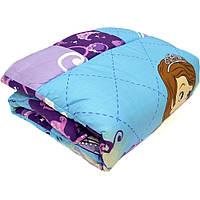 Детское одеяло закрытое однотонное овечья шерсть (Микрофибра) 110x140 T-54771