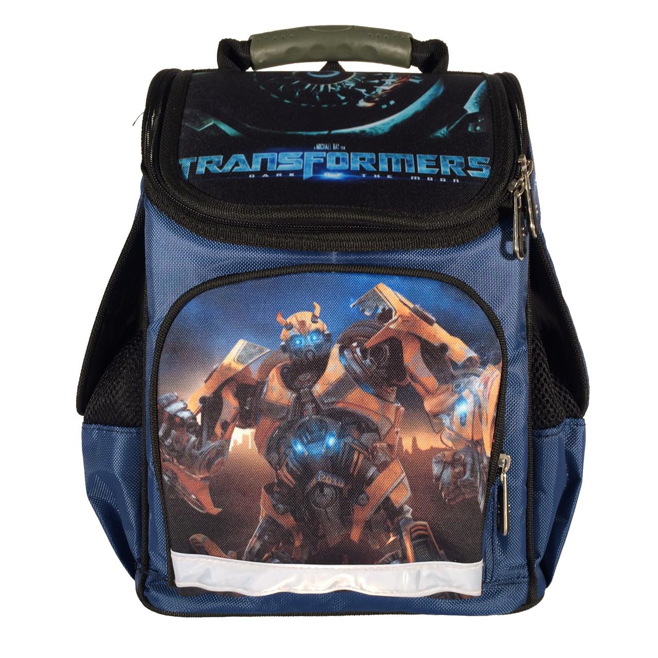 9501199e98b2 Рюкзак школьный детский 14 л Ортопедическая спинка Каркасный Для мальчика  Трансформеры Синий - NATURSPORT.COM