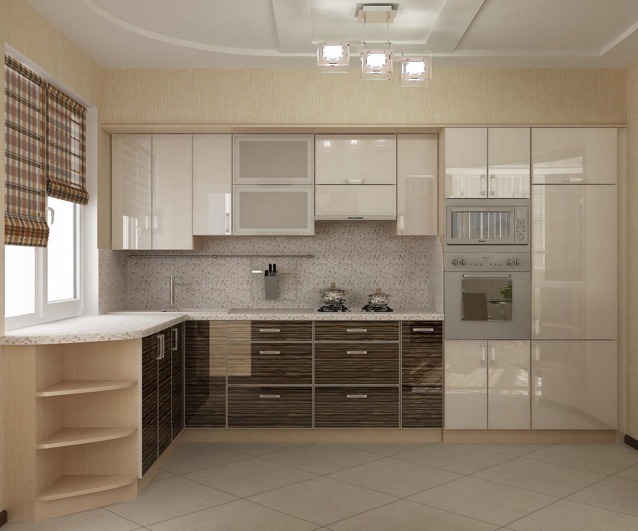 Кухня з фасадами радіусними