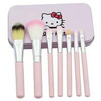 Набор кистей для макияжа Hello Kitty розовый