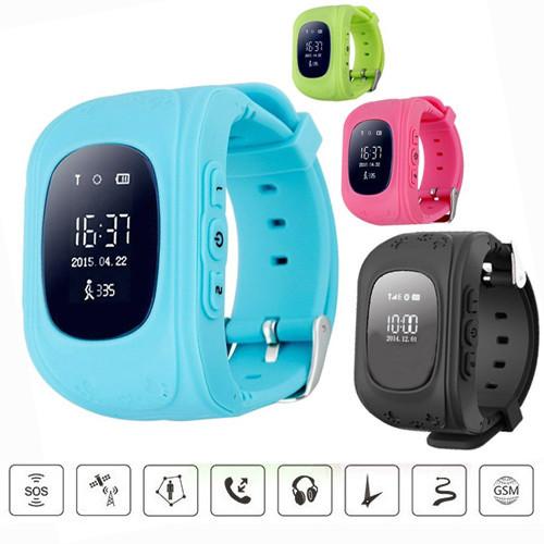 Дитячі розумні годинник Q50 з GPS-трекером | SMART BABY WATCH Q50 GPS LCD
