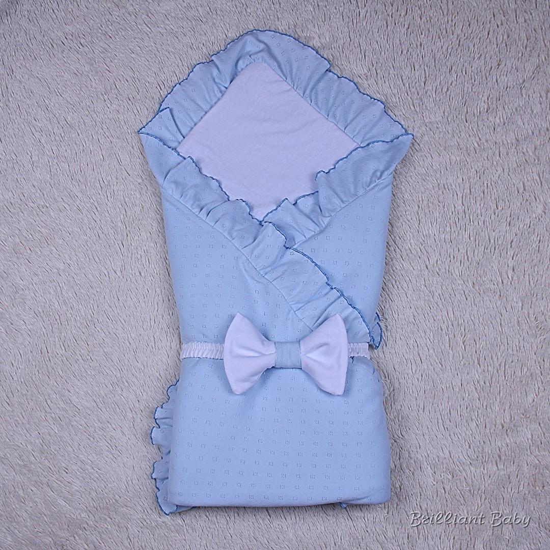 Летний конверт плед Нежность (голубой)