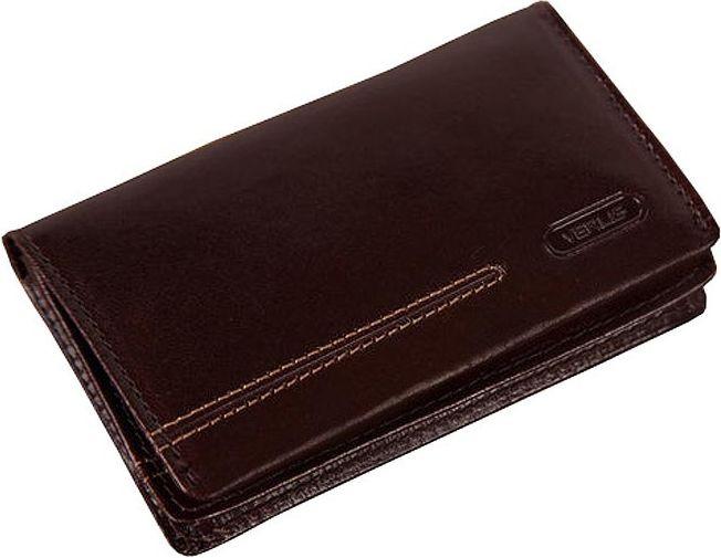 Чехол для визиток кожаный Verus London коричневый