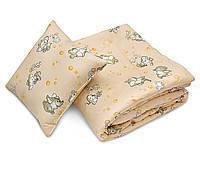 Детское закрытое силиконовое одеяло 110x140 с подушкой 50х50 T-54798