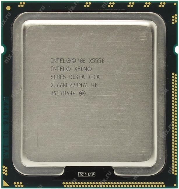Процессор Intel Xeon X5550 8 МБ кэш-памяти, 2,66 ГГц, 6,40 ГТ/с