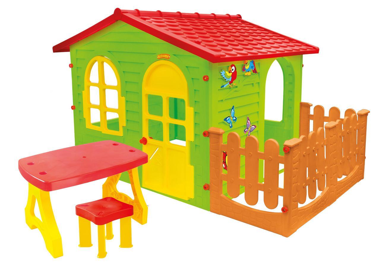 Детский игровой домик Mochtoys 07 с террасой