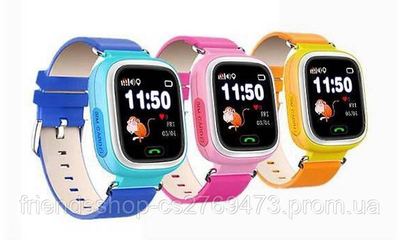 Смарт годинник Smart Baby Watch Q100 з GPS та кнопкою SOS 825de4bd43a42