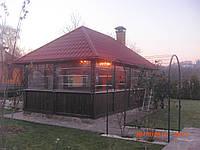 Защитные прозрачные шторы для беседки из ПВХ , фото 1