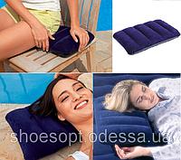 Надувная подушка Интекс Intex 48х28х9см велюровая