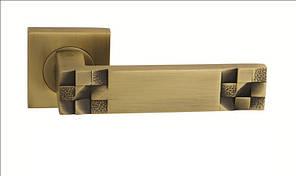 Дверная ручка ORO&ORO LEVEL 010-15E MAB матовая античнаябронза