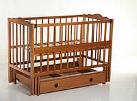 """Кроватка детская Кузя """"Анастасия"""" с ящиком. Цвет: орех"""