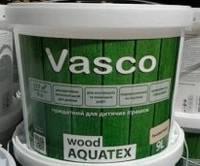 Пропитка для деревянных панелей Vasco Wood Aquatex дуб, 9л. Доставка бесплатно.