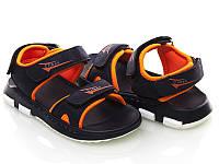 Босоножки, сандалии для мальчика р.26-31 ТM Clibee Z319 тёмно-син. с оранж.