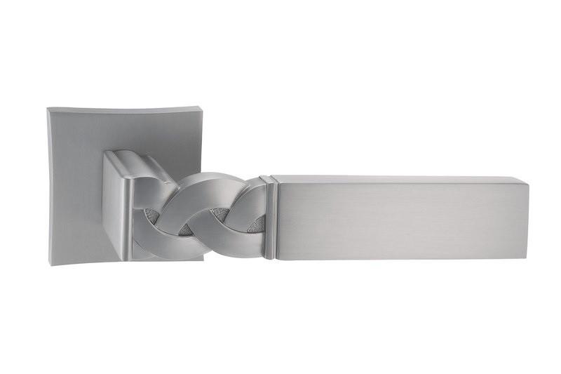 Дверная ручка ORO&ORO TRECCIA 028-15E SCH матовый хром