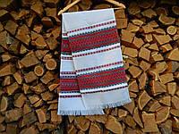 Рушник вышитый красный в украинском стиле, фото 1