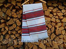 Рушник вышитый красный в украинском стиле