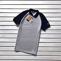 Серая мужская футболка-поло, фото 3