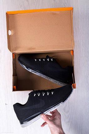 Кроссовки мужские Nike Zoom черные топ реплика, фото 2