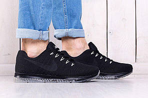 Кроссовки мужские Nike Zoom черные топ реплика, фото 3