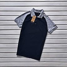 Черная мужская футболка-поло, фото 3
