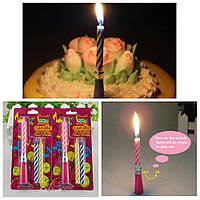 Свеча для торта музыкальная с 2 запасными свечами