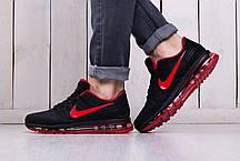Мужские кроссовки Nike Air Max 2017 Black Red Shoes топ реплика, фото 2