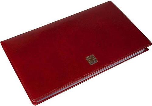 Визитница женская настольная кожаная Verus (Верус) 34R TK красная