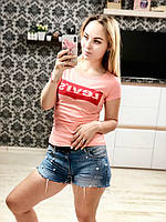 Женская футболка Levi's 100% котон. , фото 1