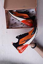 Мужские кроссовки Nike Air Max 270 Orange топ реплика, фото 3