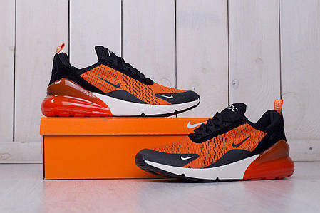 Мужские кроссовки Nike Air Max 270 Orange топ реплика, фото 2