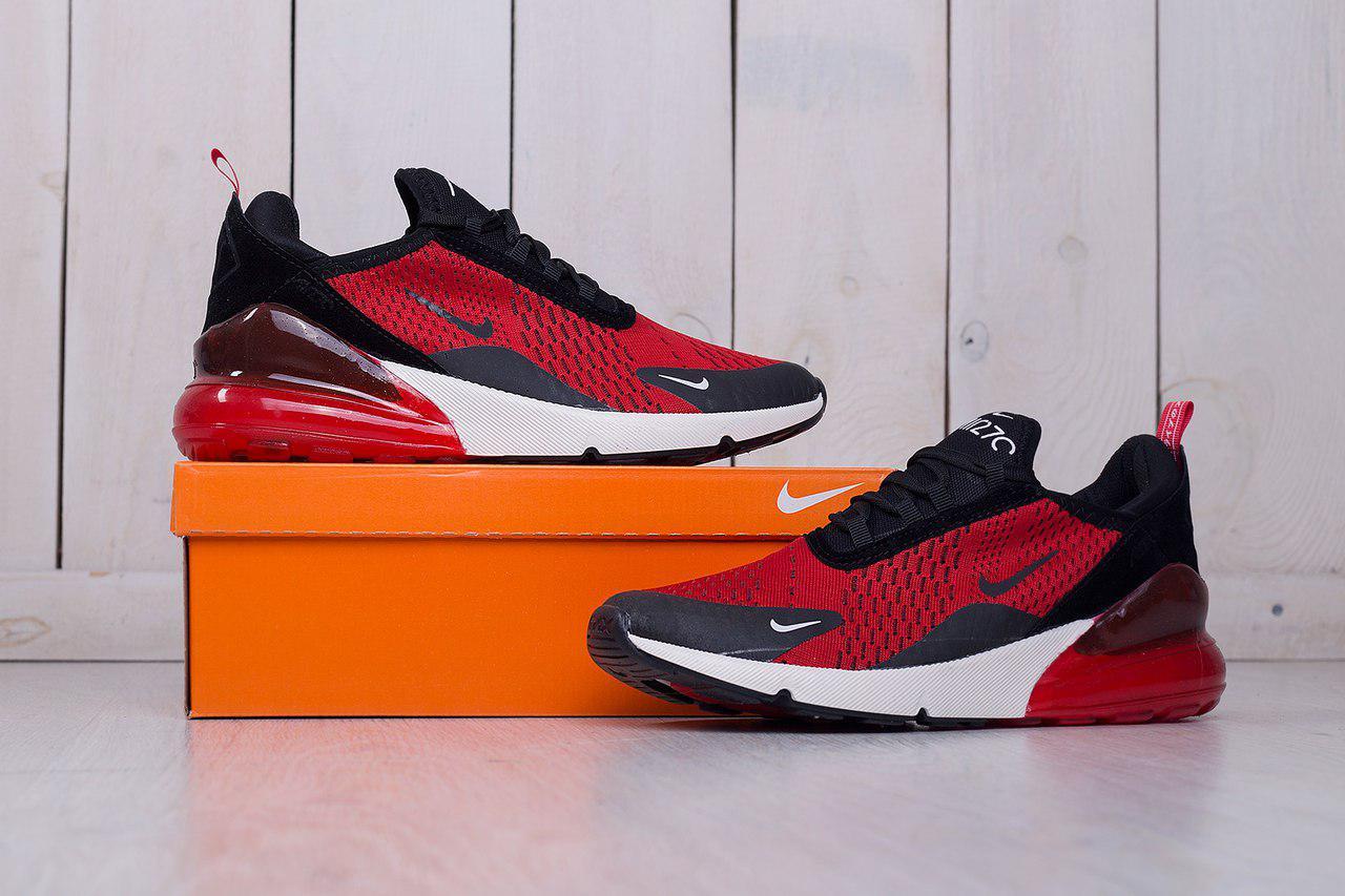 Мужские кроссовки Nike Air Max 270 Red красные топ реплика