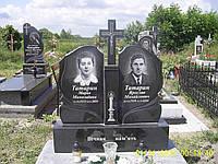 """Памятник двойной с крестом - """"Полет"""""""