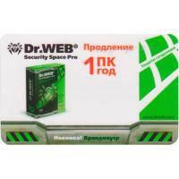 Антивирус Dr. Web Anti-virus Pro 1 ПК 1год Renewal Card (CBW-W12-0001-2)