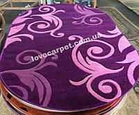 Рельефный ковер Melisa 391 фиолетовый оальный