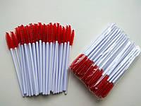 Щеточки на белой ножке, ворс красный, фото 1