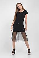 Черное женское платье в стиле casual
