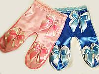 Ползунки для конкурса Сын Дочь Кружевные. Розово-голубые. Цена за пару.
