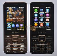 Мобильный телефон Servo V8100 4sim, коричневый, черный, GSM, 1800 мАч