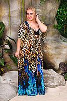 Пляжная женская туника в пол в большом размере, фото 1