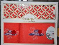 """Турецкие качественные полотенца """"Cestepe01"""", хлопок, 140х70 см.-1, 50х90 см.-1, 554/462 (цена за 1 наб.+92гр.), фото 1"""
