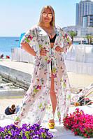 Женская туника пляжная в пол в большом размере, фото 1