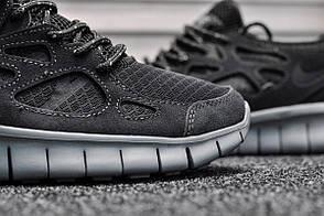 Кроссовки мужские Nike Free Run Dark Gray топ реплика, фото 3