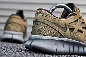 Кроссовки мужские Nike Free Run Brown топ реплика, фото 3