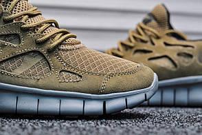 Кроссовки мужские Nike Free Run Brown топ реплика, фото 2