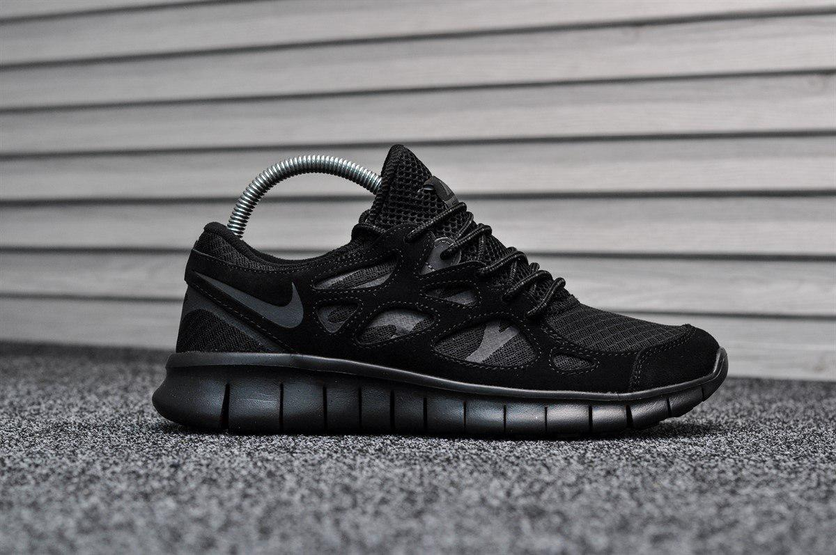 76bc3b02 Мужские кроссовки Nike Free Run Triple Black топ реплика - Интернет-магазин  обуви и одежды