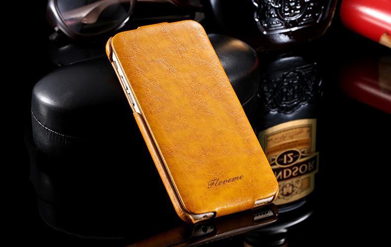 Кожаный чехол флип Floveme для Samsung Galaxy S7 Edge G935