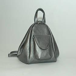 Городской рюкзак-трансформер кожаный 04 никель 02040112