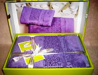 "Подарочный набор полотенец ""Cestepe"", бамбук, 140х70 см.-1, 50х90 см.-1, 675/630 (цена за 1 наб. + 45 гр.)"