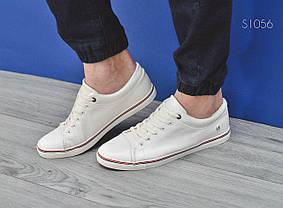 Мужские стильные кеды Italy White белые, фото 3